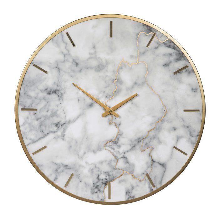 oversized wendel 23 6 wall clock gold wall clock wall on wall clocks id=95167