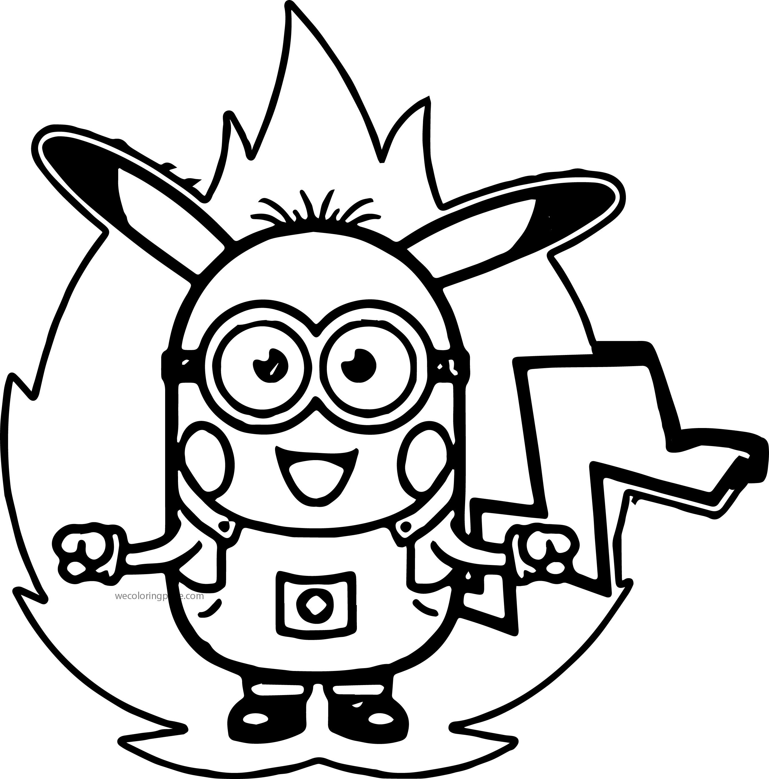 Awesome Minion Pokemon Coloring Pages Pokemon Coloring Minions