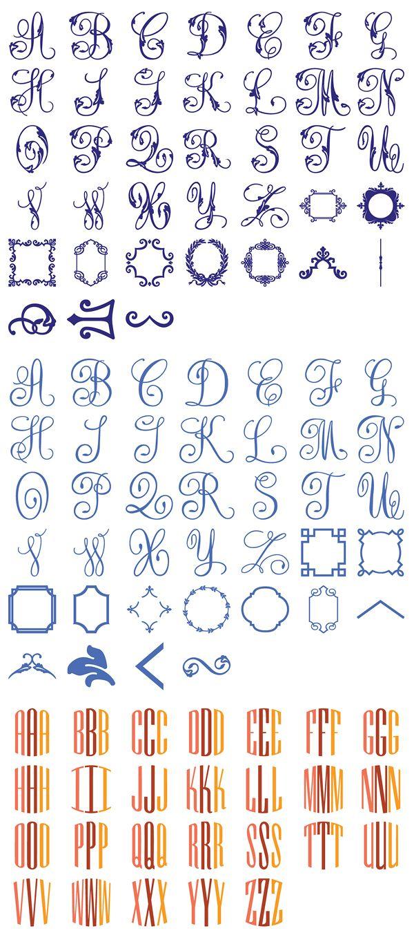 Anna Griffin Decorative Monograms Cricut Cartridge