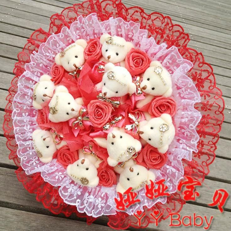 Aliexpress.com : Buy Teddy Bear Bouquet Cartoon Doll with PP ...