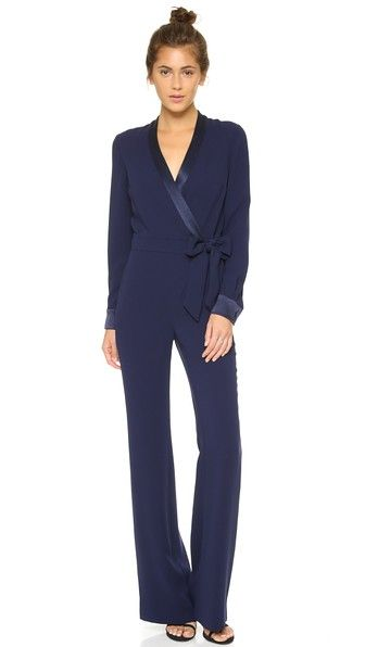 46c7836f65e A Diane von Furstenberg jumpsuit inspired by the classic wrap dress.
