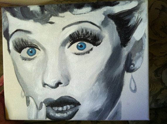 I Love Lucy Lucille Ball Original Painting 8x10 By Angela Resendez Sold Commissions Still Welcomed And Other Paintings For At The Etsy