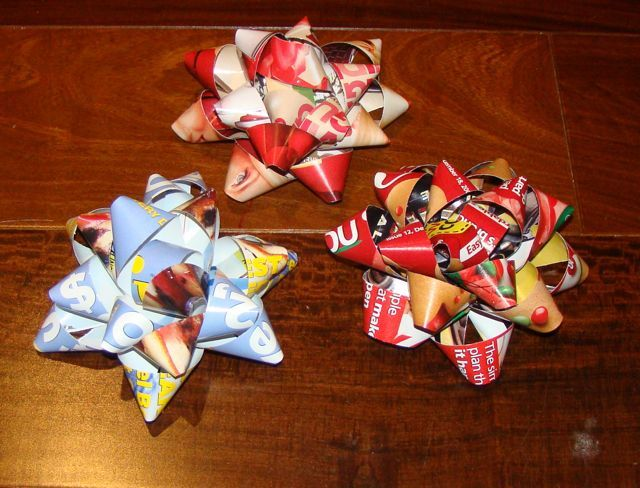 Guest post how to make your own gift bows gift bow gift and homemade gift bows totally free christmas diy upcycle solutioingenieria Images