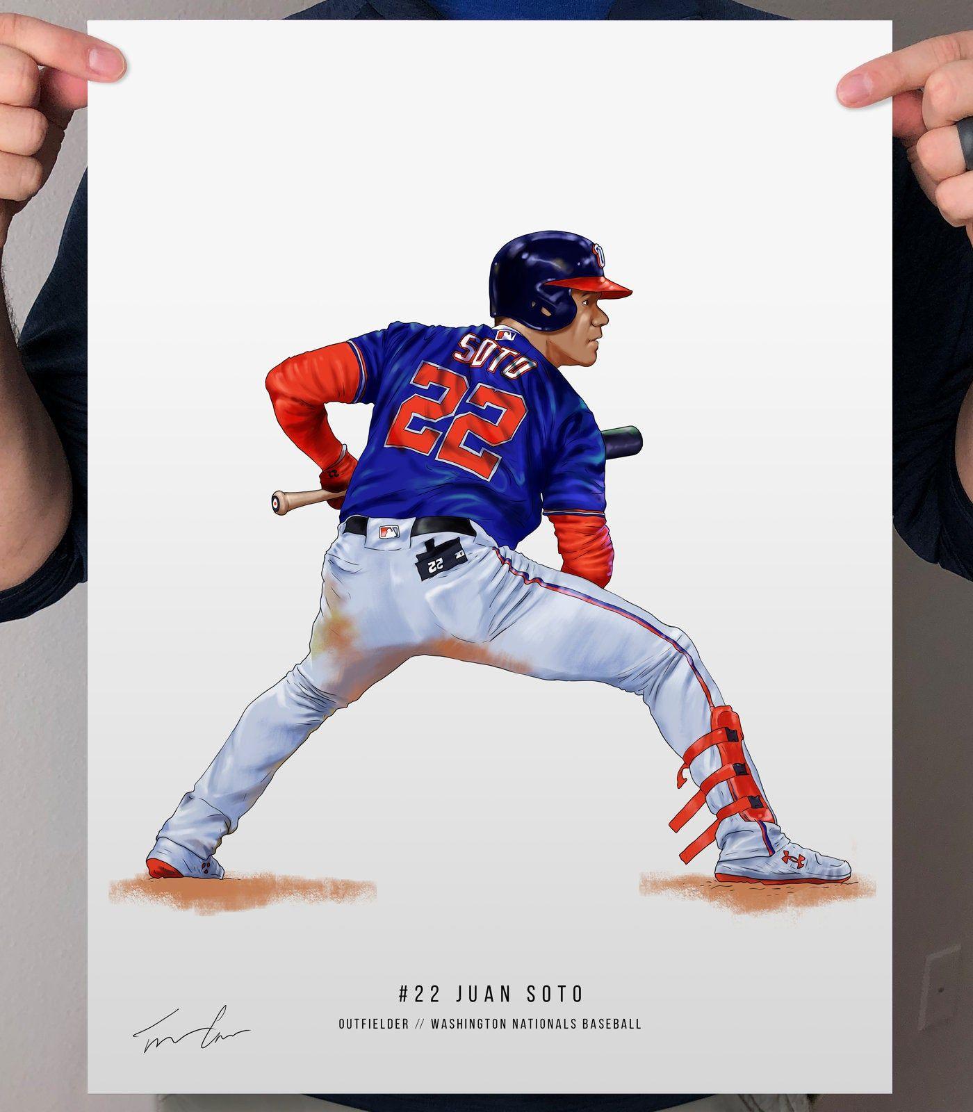 Juan Soto Washington Nationals Baseball Illustrated Print Etsy In 2020 Washington Nationals Baseball Washington Nationals Nationals Baseball
