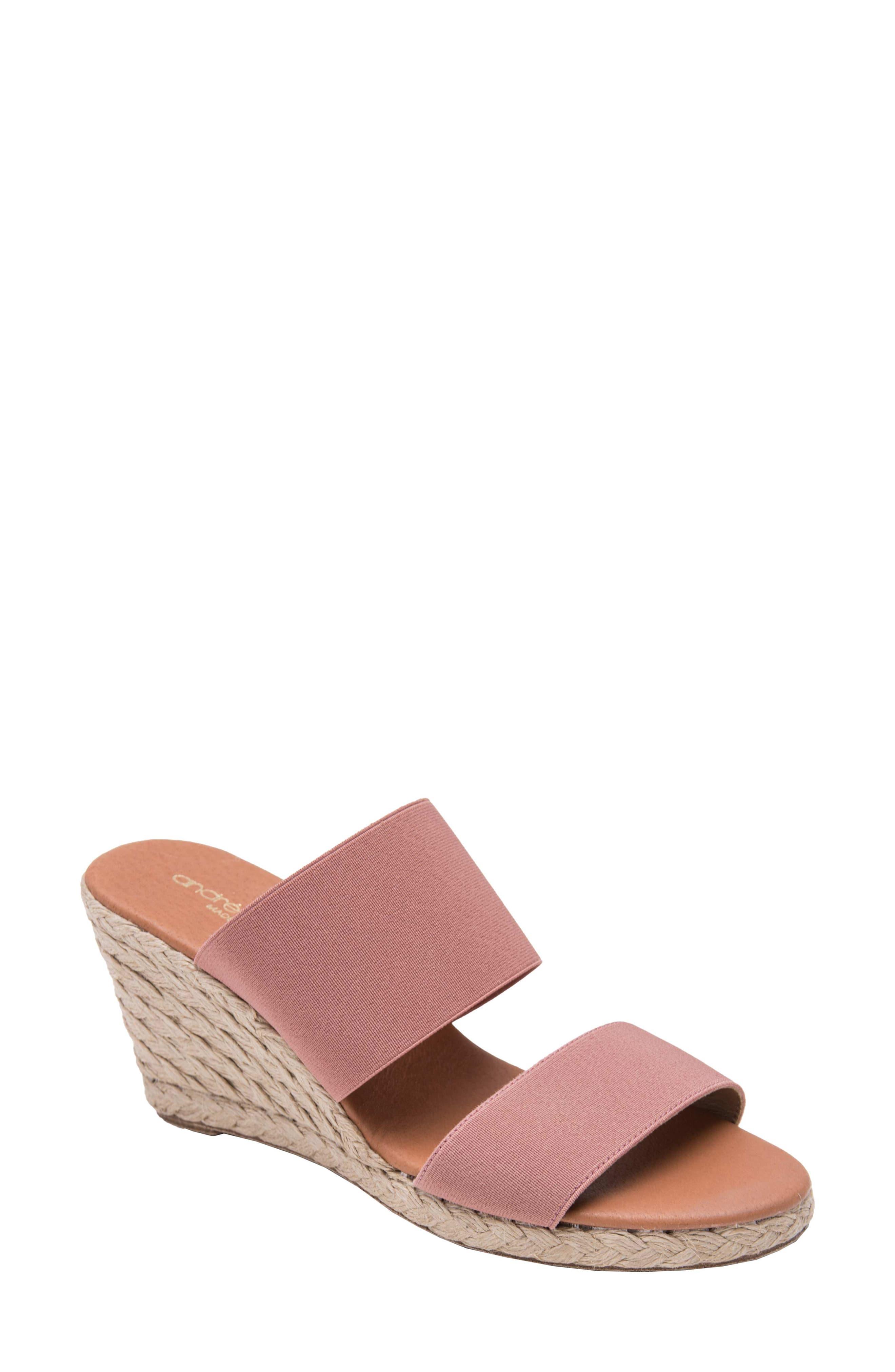 434a49f922d Women's André Assous Amalia Strappy Espadrille Wedge Slide Sandal ...