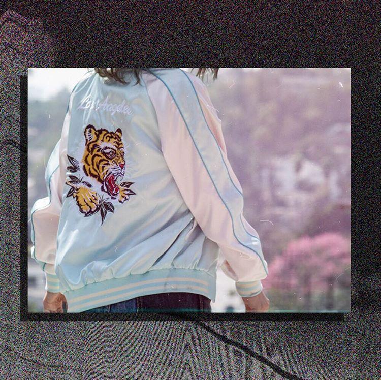 Get your Ska on! Select sizes and styles 40% off 🐯 #スカジャン #skajacket #tiger #rawr #retro #vintagevibes #bomberjacket #kawaii #littletokyo