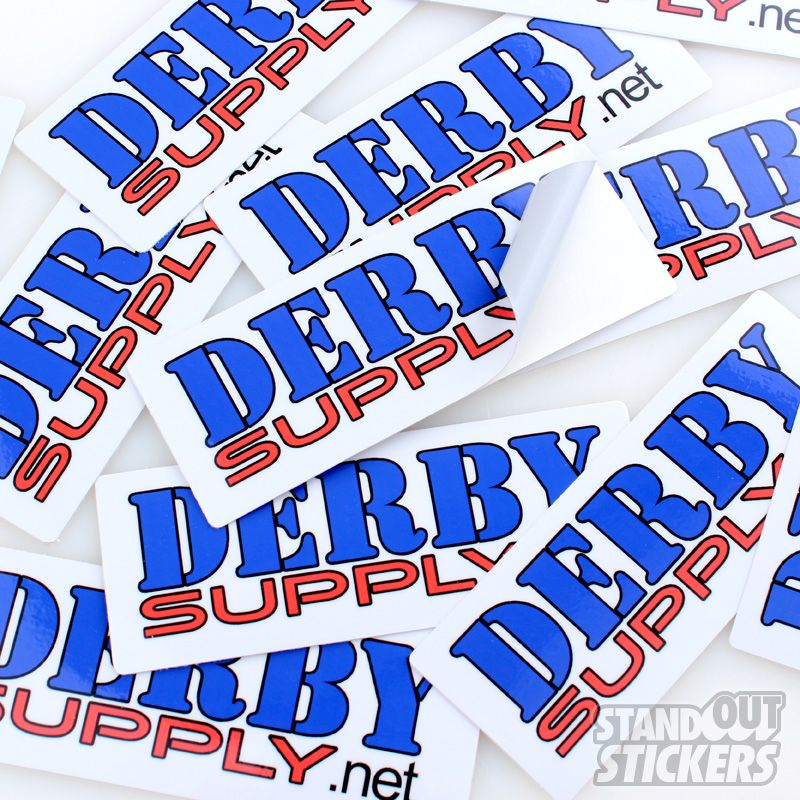 Derby supply custom rectangle stickers