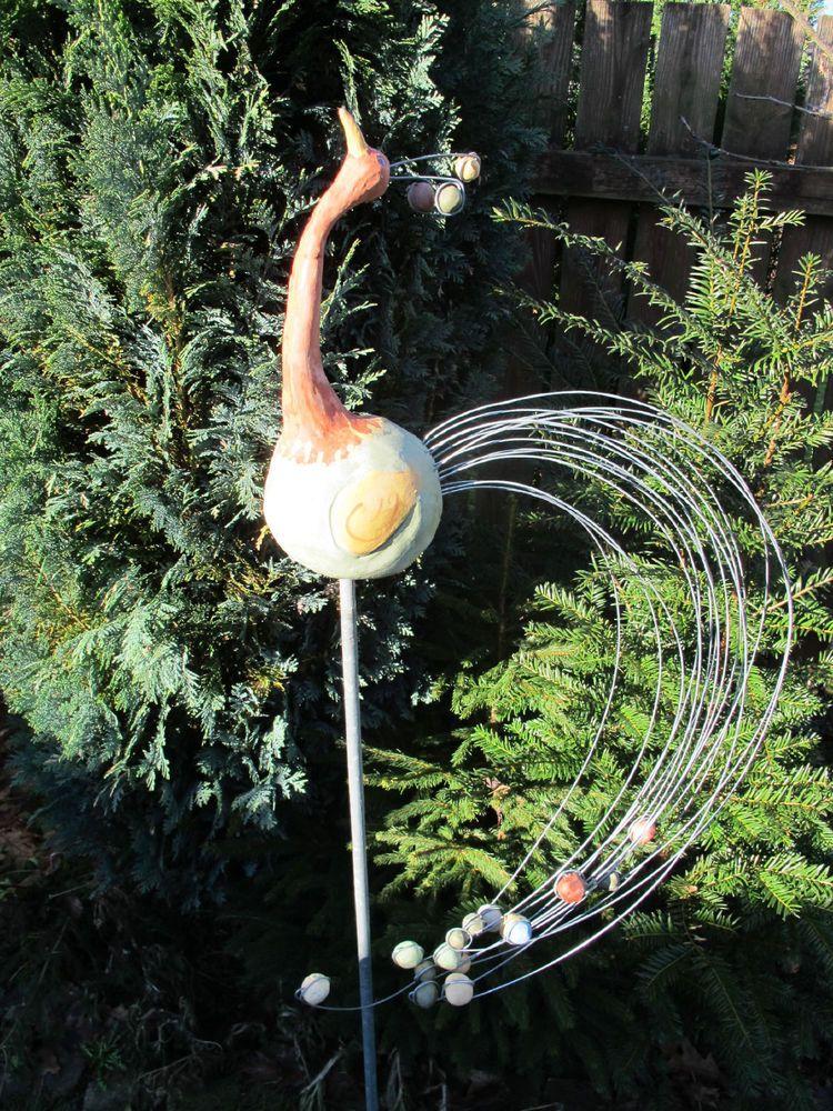Gartenvogel gartendekoration keramik handarbeit for Gartendekoration