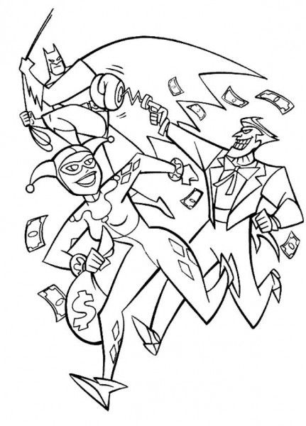 Harley Quinn and Joker Coloring Pages | cute coloring ...
