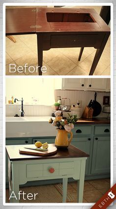 Sewing Machine Table Repurposed Kitchen Islands