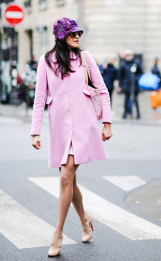 Best Street Style From Paris Fashion Week Fall 2017 Tip: Don't be afraid to play with bold hats!