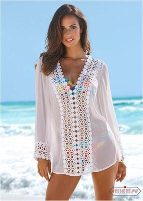 912b0ce63f1f Vestidos Blancos para Playa | Vacaciones♥♥ en 2019 | Vestidos ...