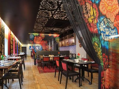 Chain Link Printing Curtain As Space Divider To Decorate Restaurant, And  Thereu2026