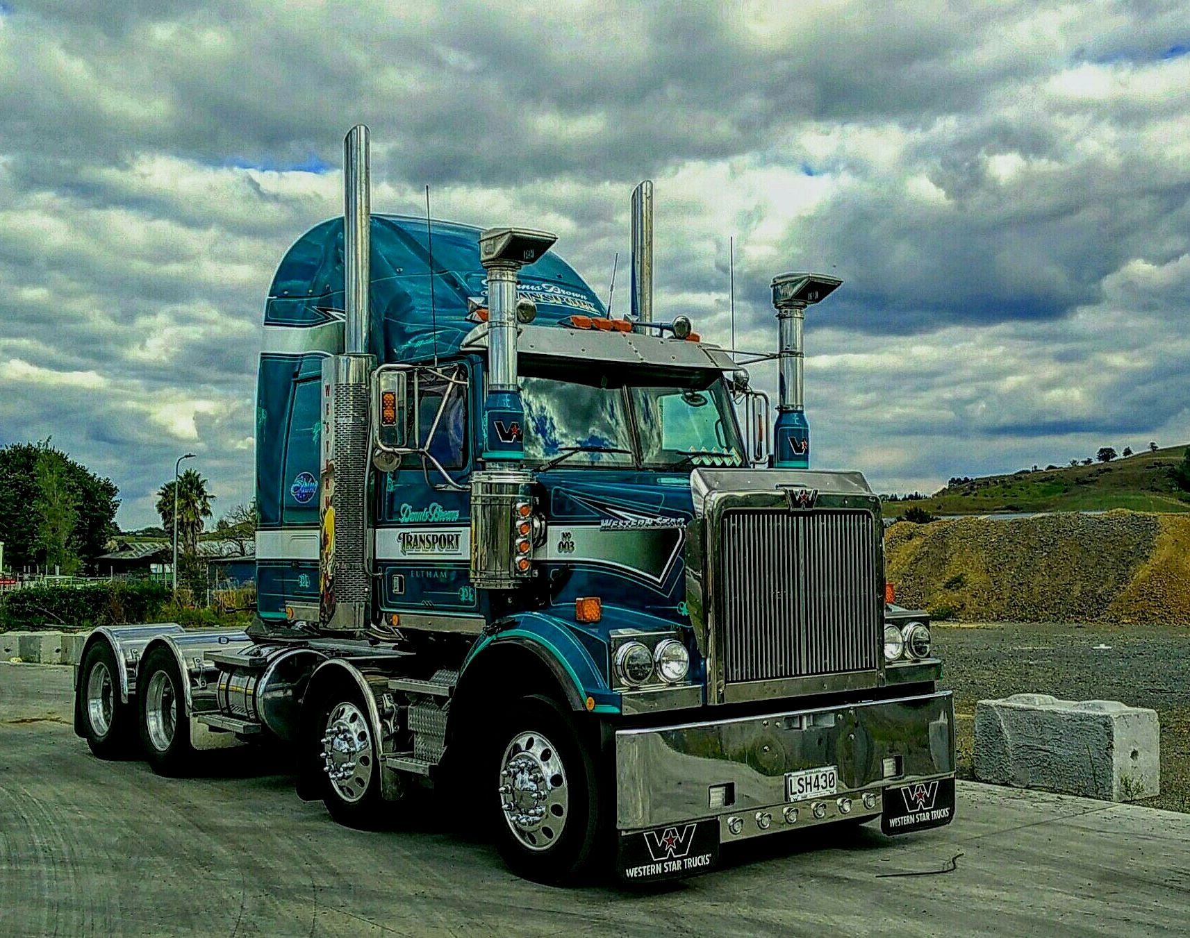 Western Star Twin Steer Prime Mover N Z White Truck Big Rig