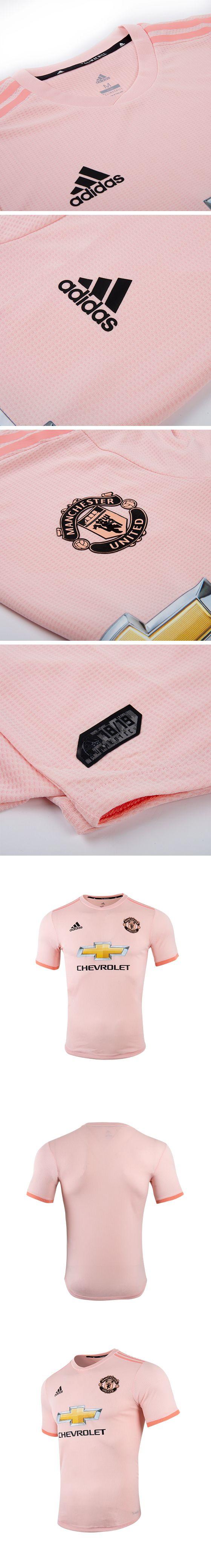 ac1bb22a48c 18-19 Manchester United Away Pink Jersey Shirt(Player Version ...