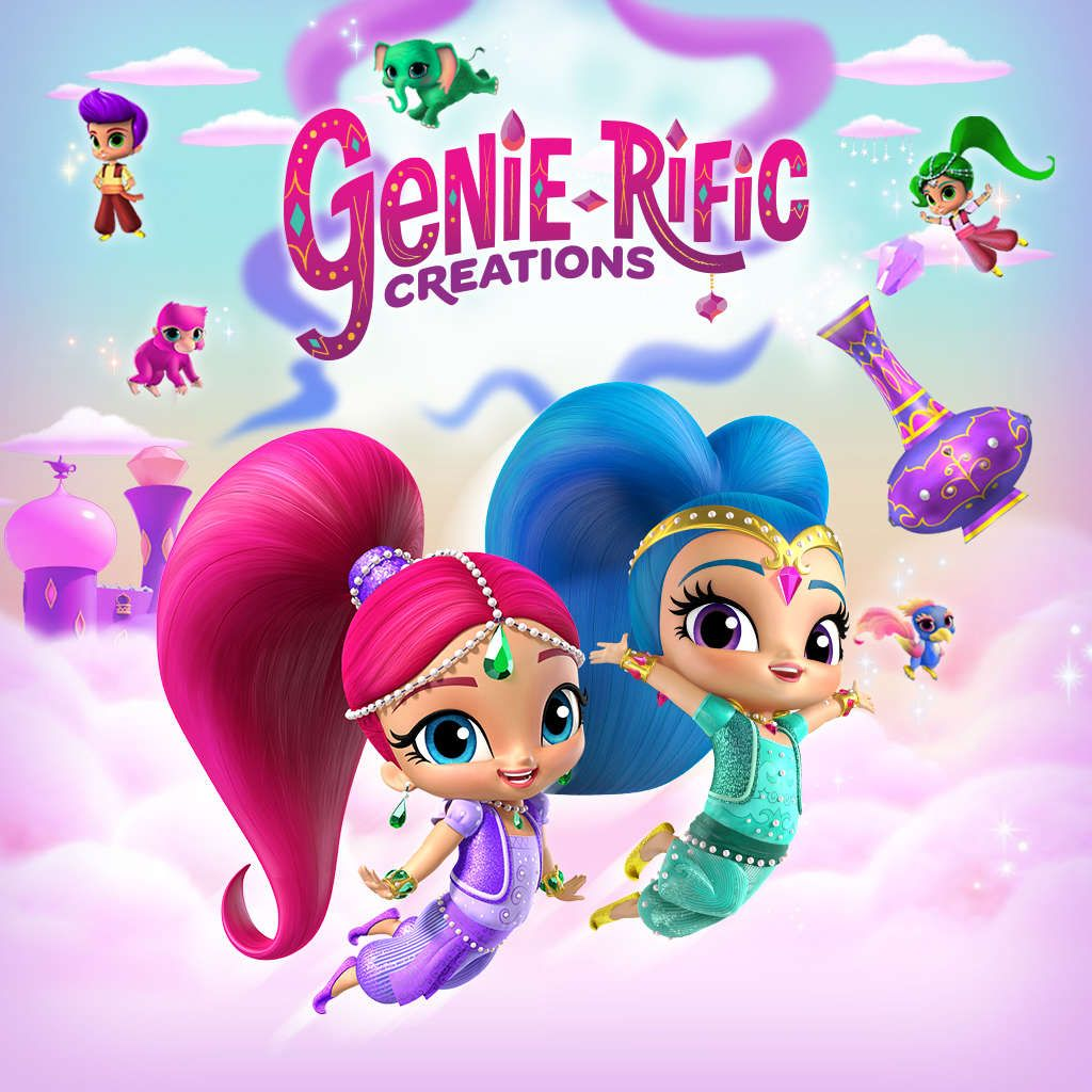 Genie Palace Divine Dress Up Game with Shimmer and Shine