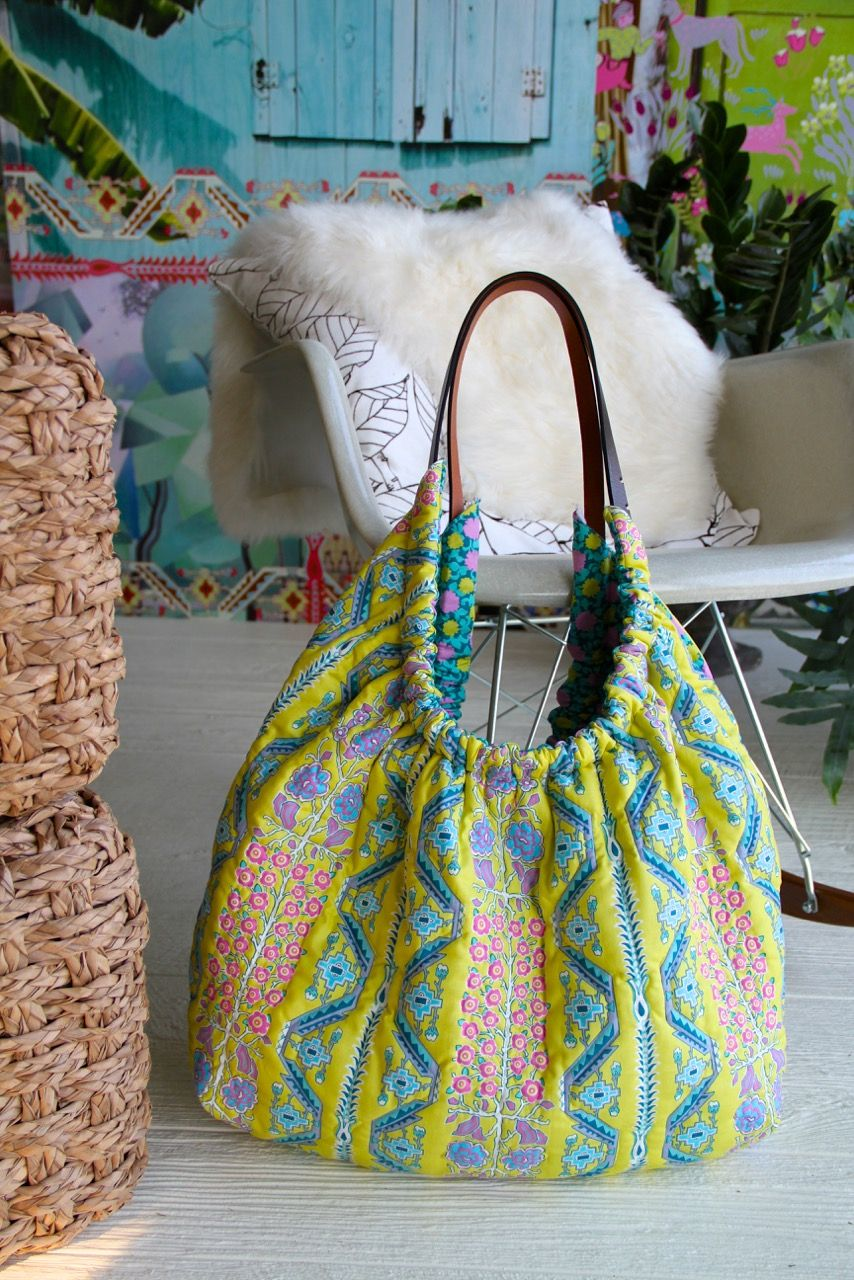 Amy Butler\'s quilted Gypsy Sling Bag in Splendor fabric - http://www ...