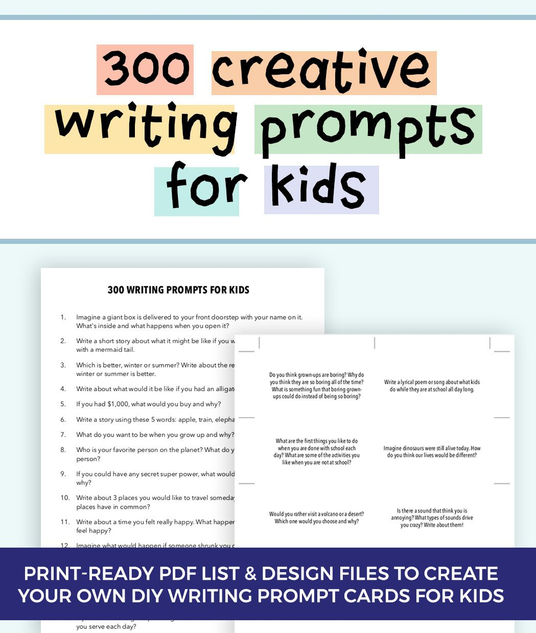 300 Fun Writing Prompts For Kids