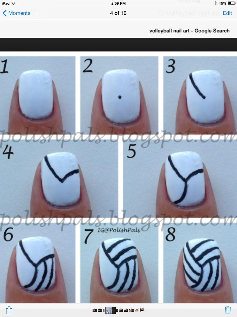 Volleyball Nail Art Volleyball Nails Volleyball Nail Art Curved Nails