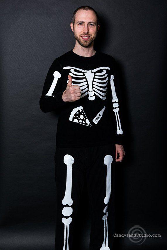 4220edd19981d Full Body X-Ray Skeleton Iron On Decals DIY Halloween Costume Shirt Pants  Match Maternity Pregnant S