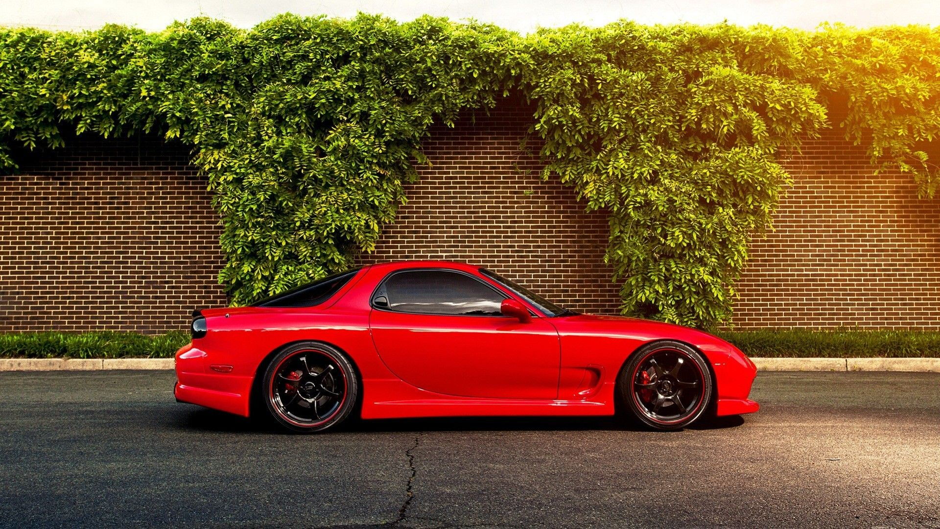 JDM Japanese Domestic Market Mazda Mazda RX7 Cars Red