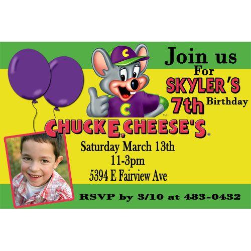 Chuck e cheese photo birthday invitation green chuck e cheese chuck e cheese photo birthday invitation green filmwisefo Gallery