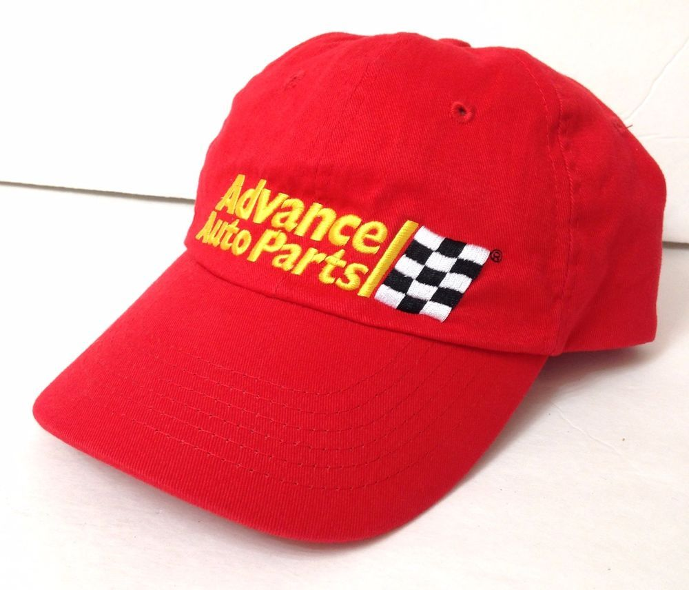 0107dba919c90 unworn ADVANCE AUTO PARTS HAT Relaxed Fit Adjustable Employee Store Checker  Flag  AdvanceAutoParts  BaseballCap