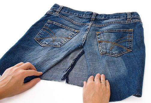 4aea266960d4 DIY Jeansrock selber machen | nähen | Kleidung nähen, Rock selber ...