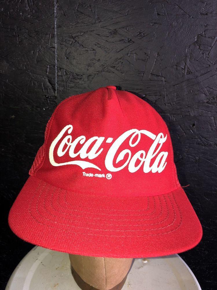 771222fdd4b Vintage Coca Cola Trucker Hat Snap Back Hat Red Coke Hat  fashion  clothing