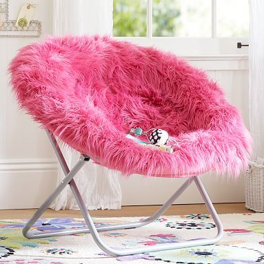 Himalyan Pink Faux Fur Hang A Round Chair Round Chair