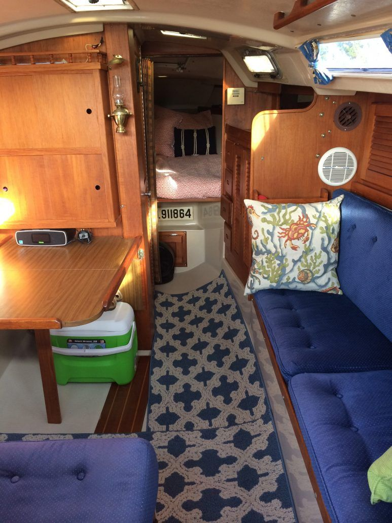 Interior of a Catalina 30 sailboat  Find out more at
