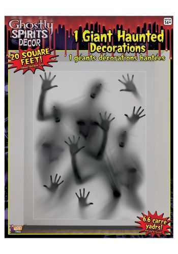 The spirits are desperate to get out, but do you let them out? This freaky spirits jumbo wall decoration is going to have anyone thinking twice about entering this house!