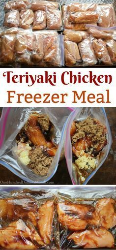 Freezer Meals - Teriyaki Chicken images