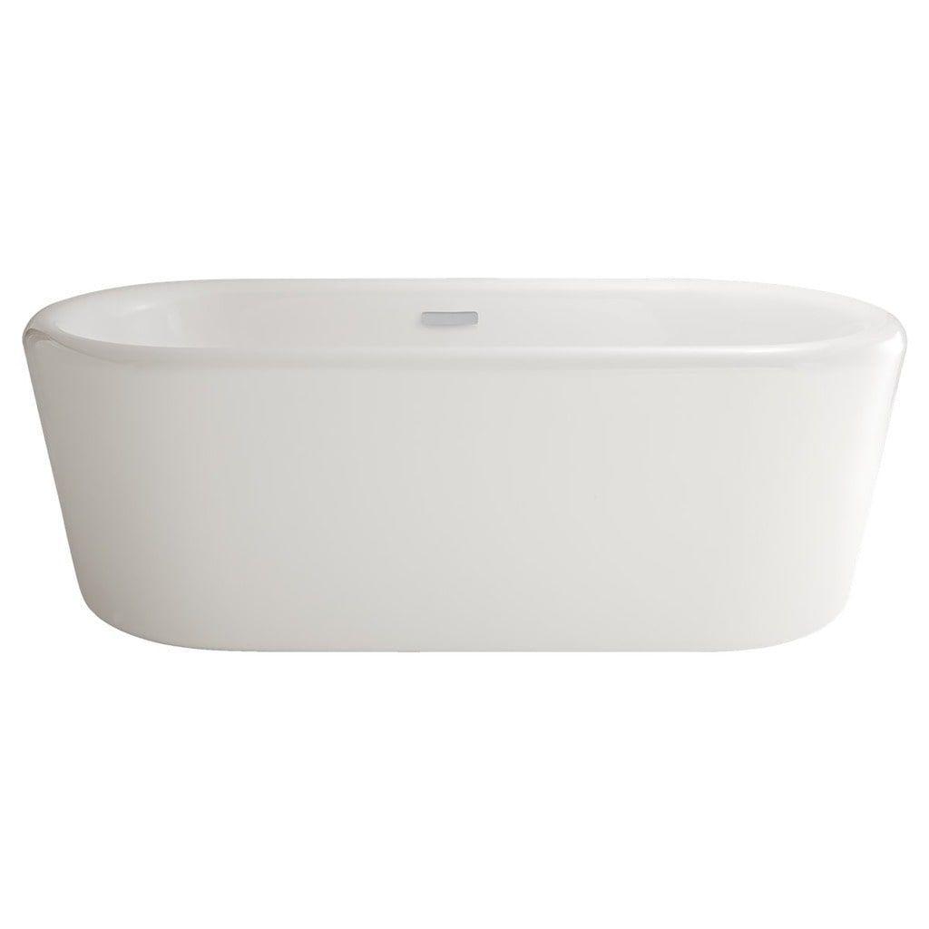 American Standard Sedona Loft Freestanding Tub (White), Size 60 to ...