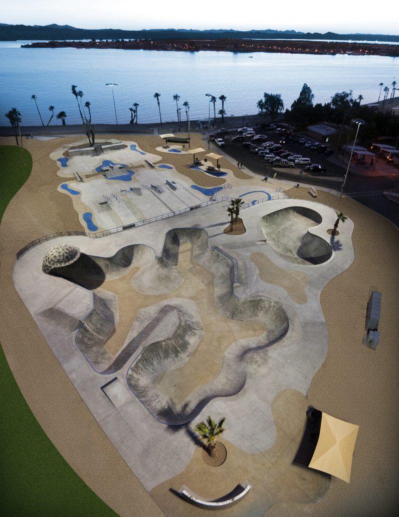 Tinnell Memorial Skatepark Lake Havasu City, Arizona