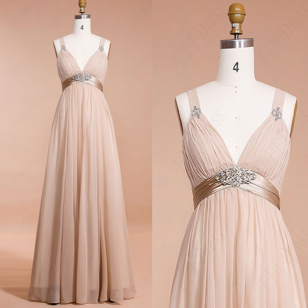 Champagne maternity bridesmaid dresses for pregnant maid of honor