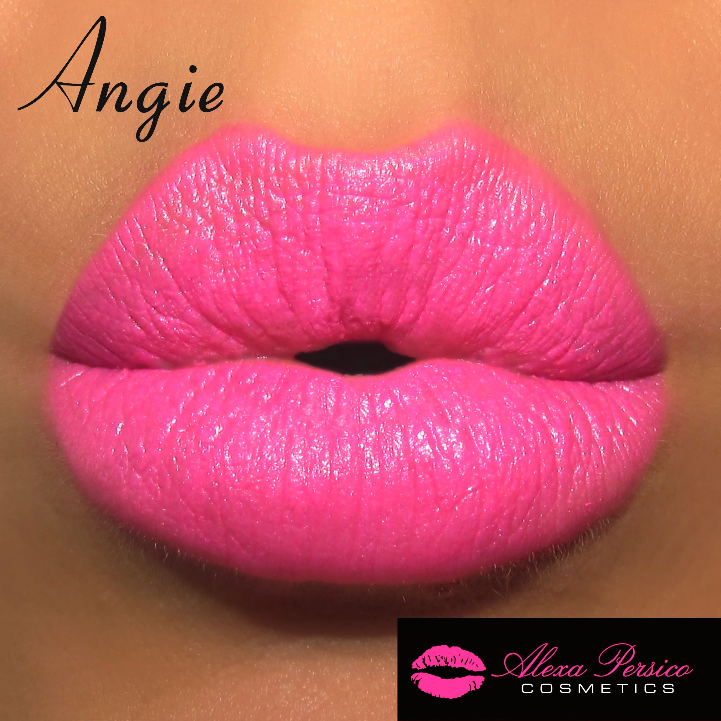 Angie Lipstick #neonpink #pink #brightpink #lipstick #popofpink #neon #alexapersico #alexapersicocosmetics #bold