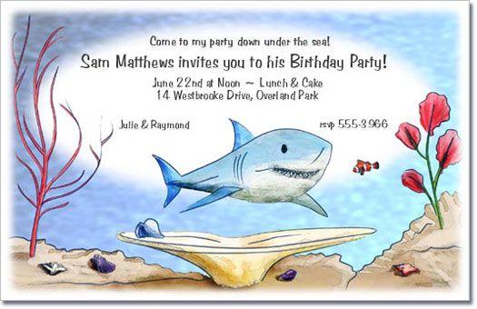Shark Shark Shark swimming and Shark party
