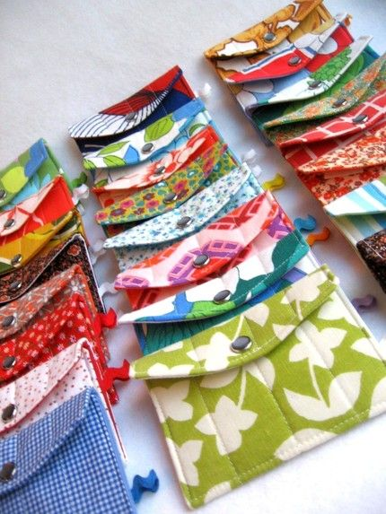 Really simple sew money pouches like these would be cute. Maybe felt cute faces, fruit??