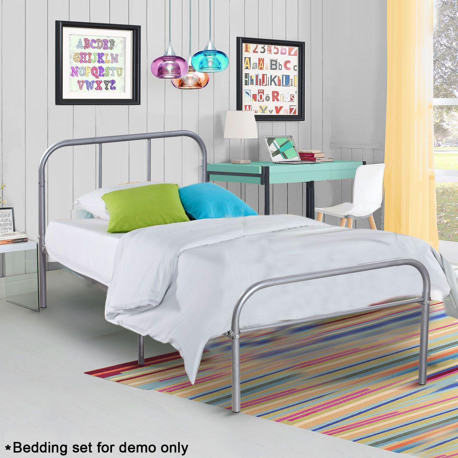 Details about Twin Size Metal Platform Bed Frame Mattress