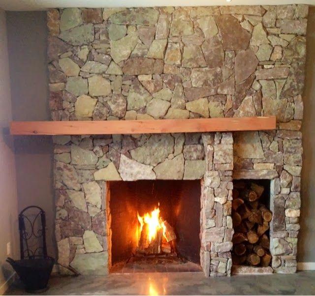 Mid Century Modern Fireplace: Mid Century Modern Fireplace Cedar Mantle Rock Fireplace