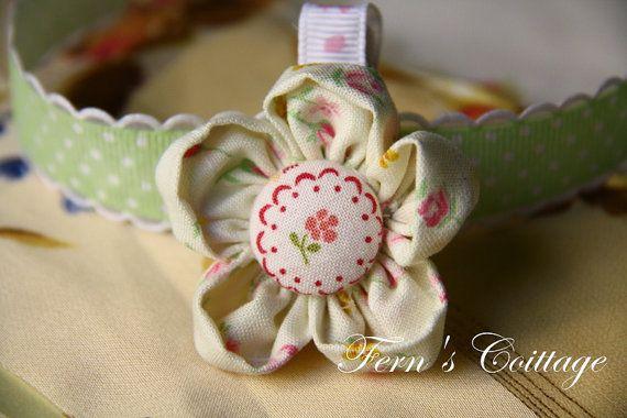 Fabric Flower Hair Clip  Wedding Bridemaid Hair by FernsCottage27, $6.00