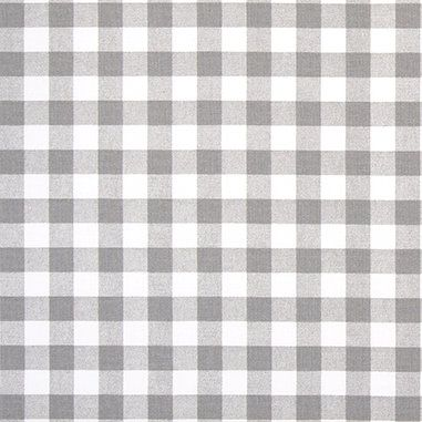 Gray  White Gingham Plaid Fabric by the Yard Designer Cotton