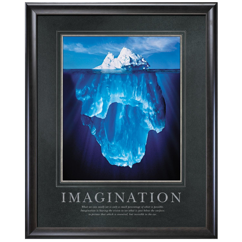 imagination iceberg motivational poster classic