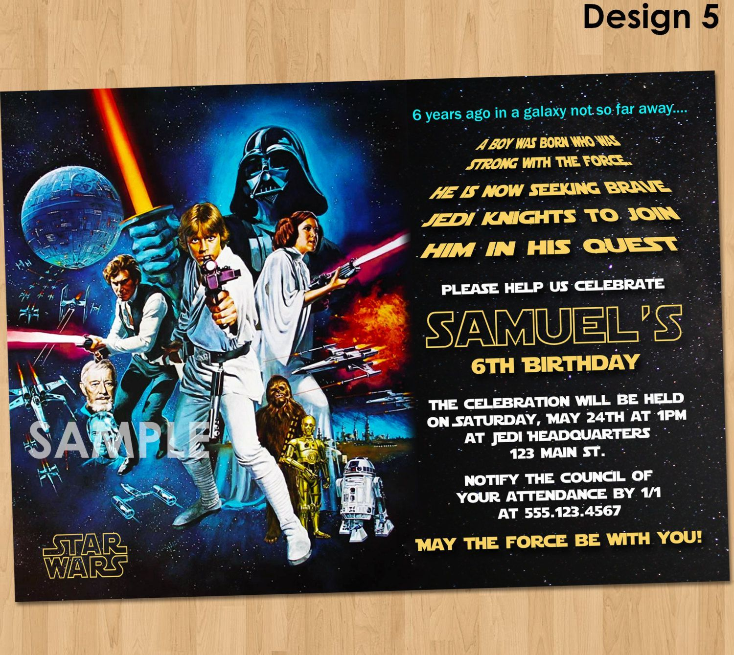 15 star wars birthday invitations ideas
