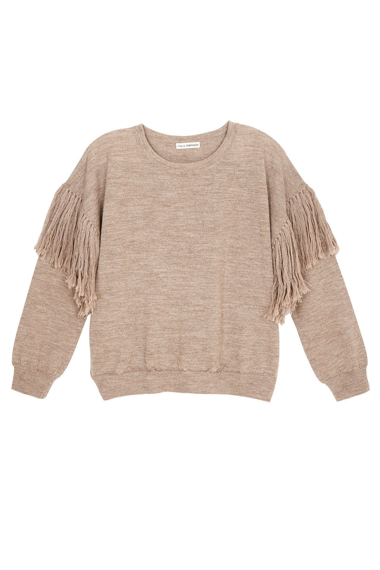 Love the fringe details on this sweater for that added street style element | Ulla Johnson Rosa Fringe weater