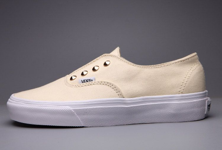 Vans Studded Women Authentic Off White Skate Shoes #Vans