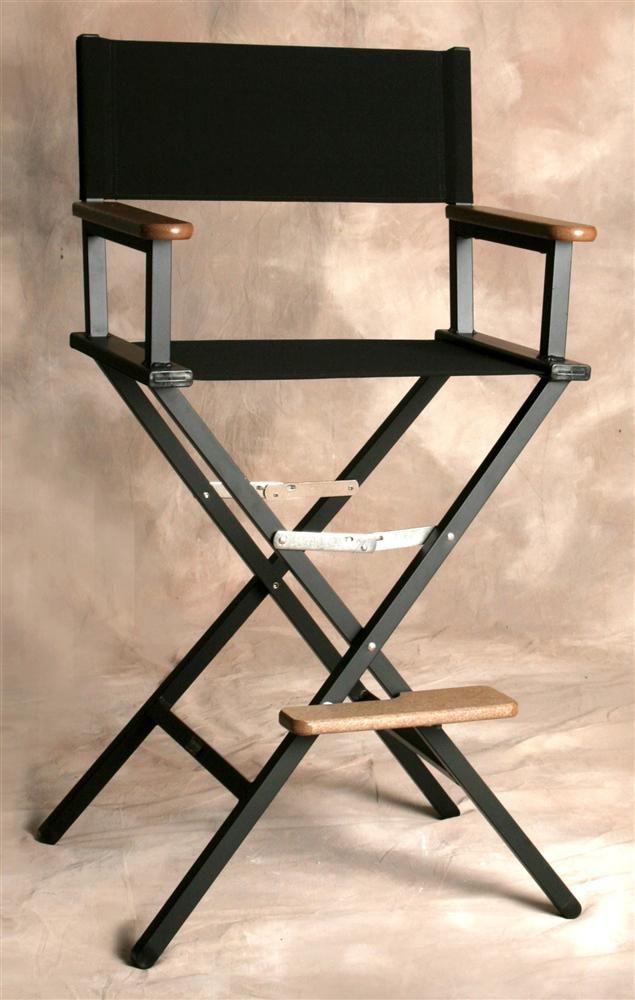 sutton bridge folding aluminum director style bar chair in jet