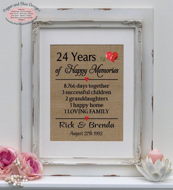 Traditional 17th Wedding Anniversary Gifts: 24th Wedding Anniversary 24 Years Married By