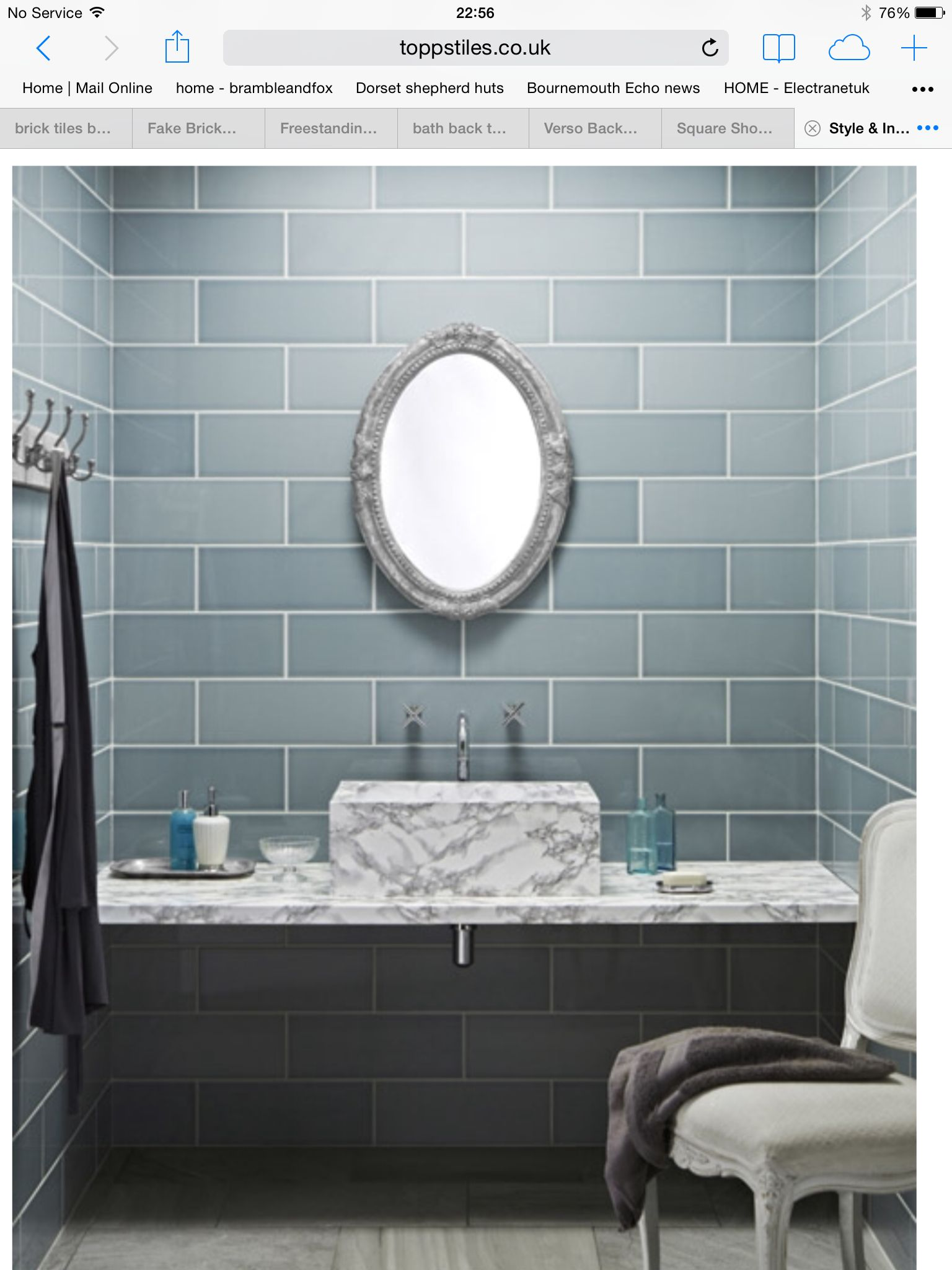 Brick style tiles | Dear Cottage - Family Bathroom | Pinterest ...